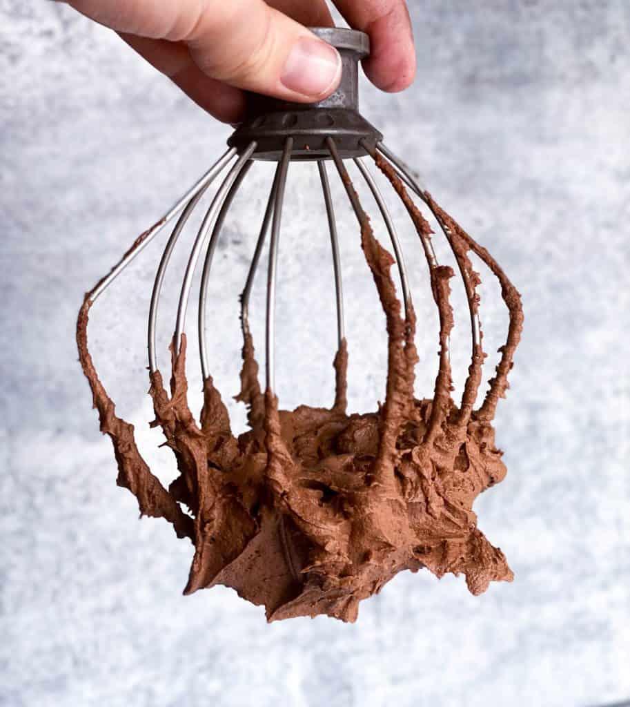 whipped chocolate ganache