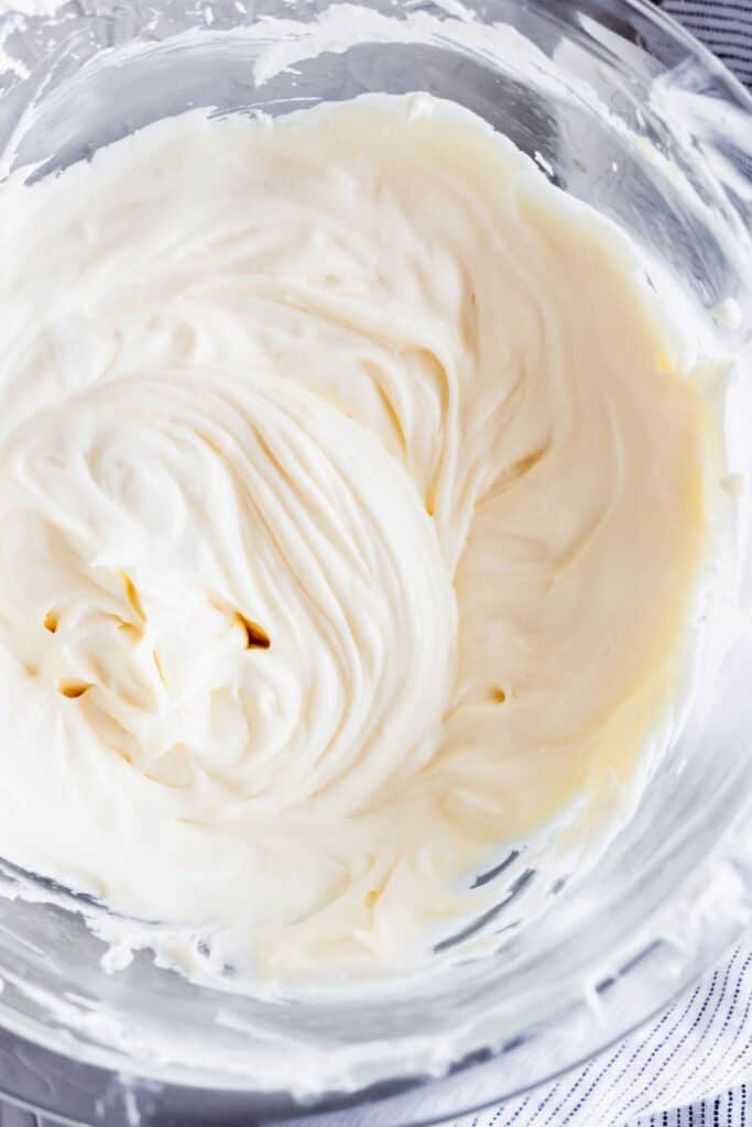 Easy cheesecake batter that is smooth with no lumps.