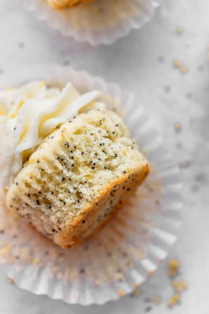 Close up of cupcake texture.