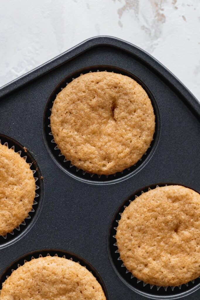 Cupcakes baked in the tin.