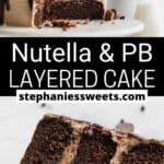 Pinterest pin for Nutella Cake