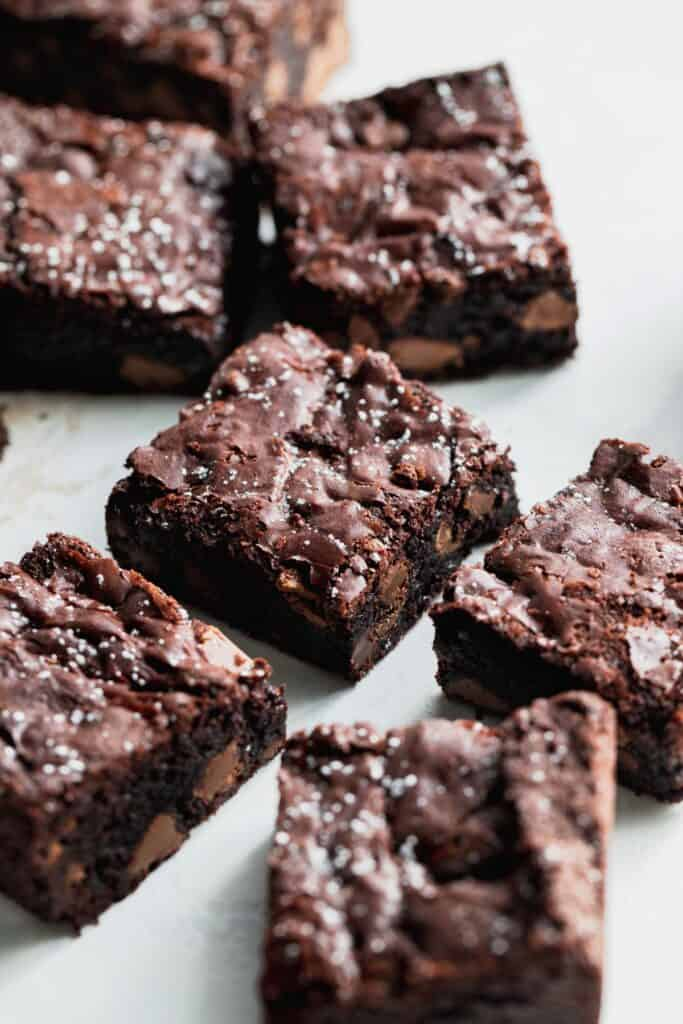 Side view of better than boxed brownies.