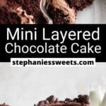 Pinterest pin for Mini Chocolate Cake