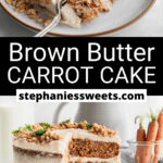 Pinterest pin for Brown Butter Carrot Cake