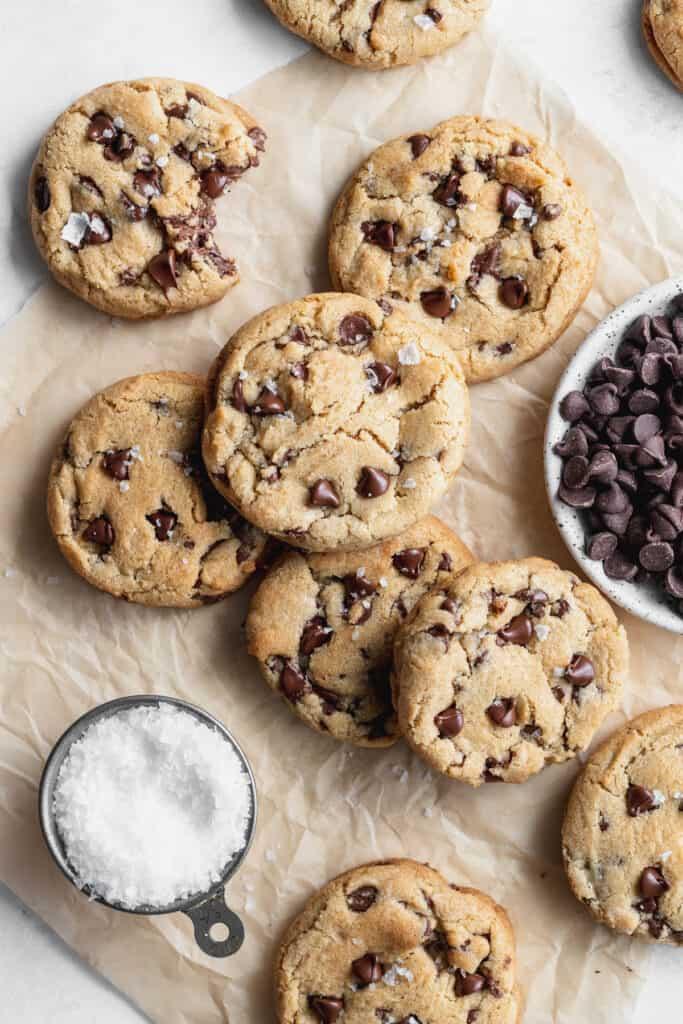 Cookies with sea salt on top.