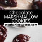 Pinterest pin for Chocolate Marshmallow Cookies