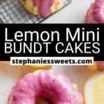 Pinterest pin for Lemon Mini Bundt Cakes