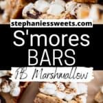 Pinterest pin of s'mores bars.
