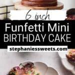 Pinterest pin for mini layered cake.