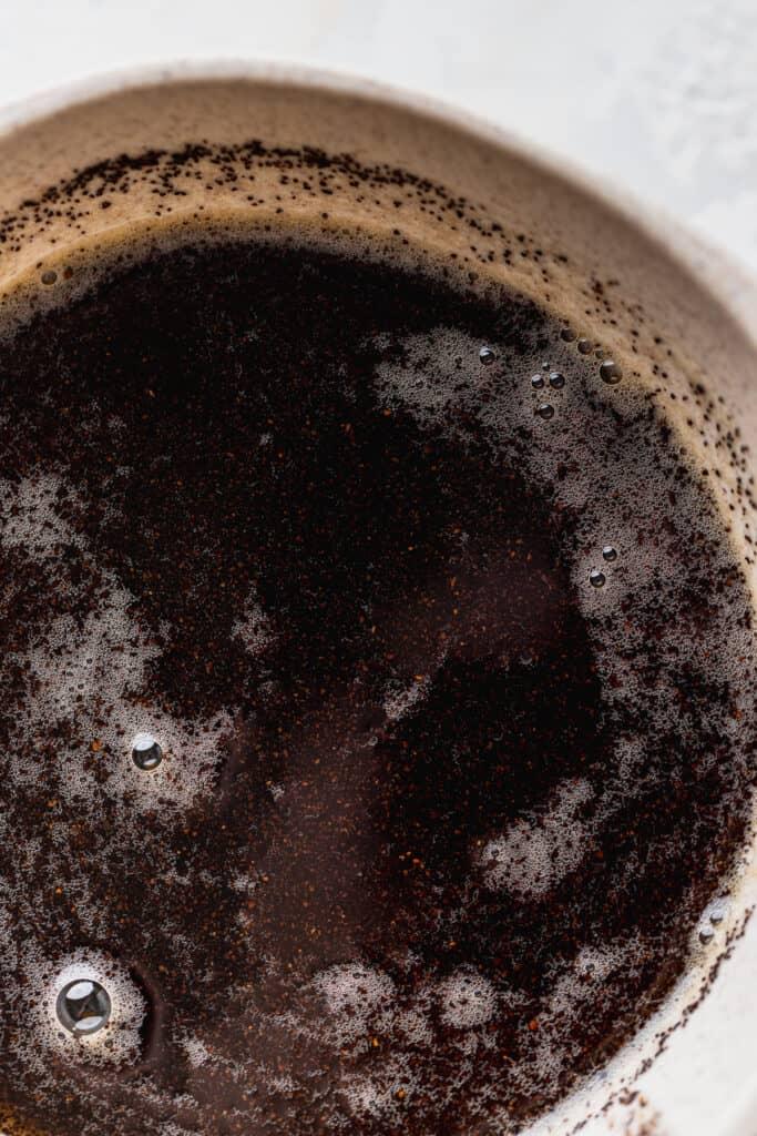 Brown butter espresso in a bowl.
