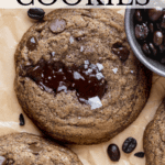 Pinterest pin for espresso cookies.