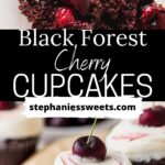 Pinterest pin for black forest cupcakes.